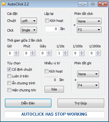 Auto Click Full Version V2.0, V3.0, V1.1