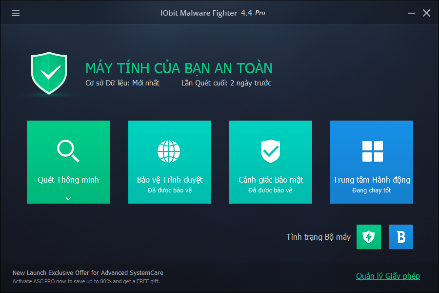 Download IObit Malware Fighter full rack key